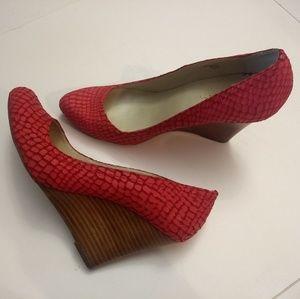 Max Studio Pink Mecca leather wedge Sandal